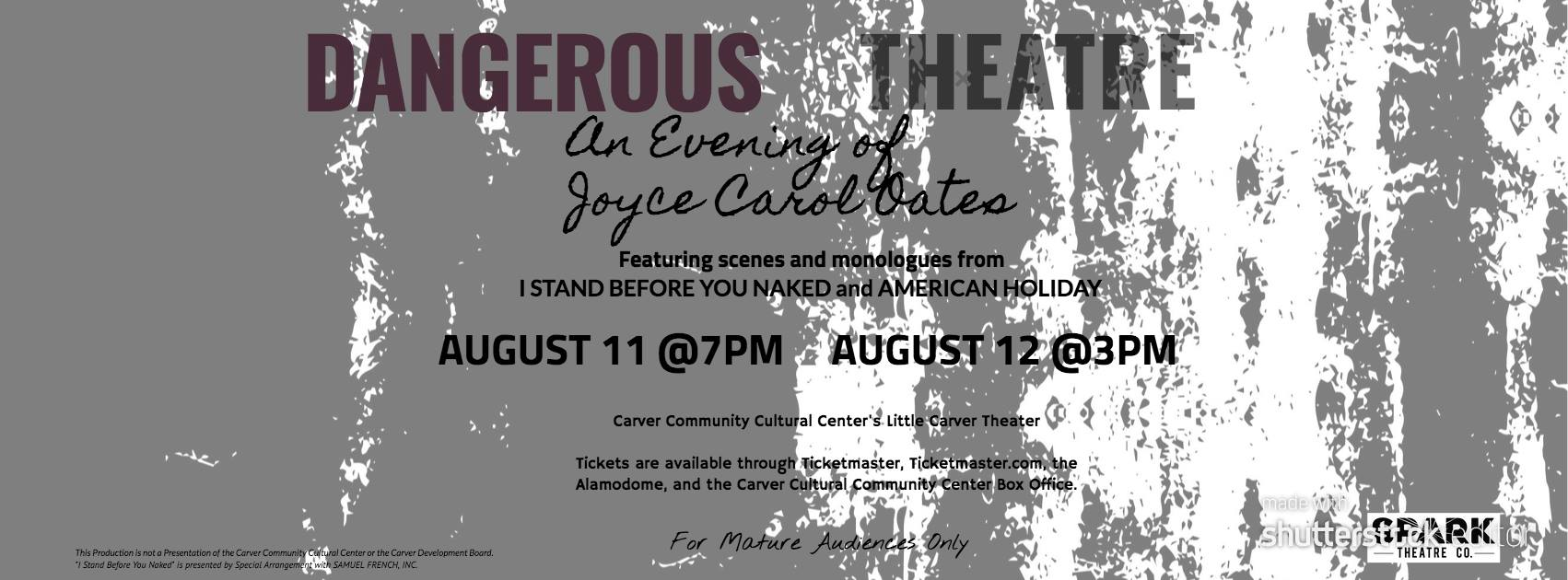 Dangerous Theatre: An Evening of Joyce Carol Oates by Spark Theatre Company