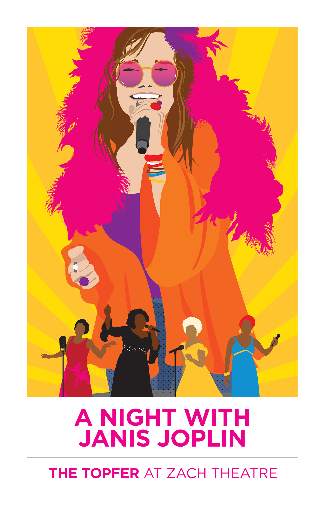 Auditions for Women Singer/Performers and a Janis Understudy for Zach Theatre's A NIGHT WITH Janis Joplin