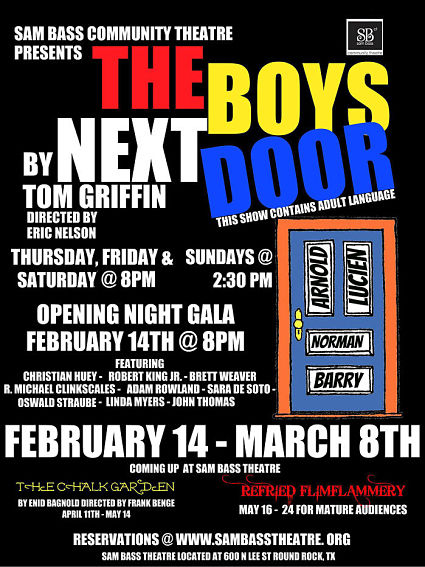 The Boys Next Door by Sam Bass Community Theatre
