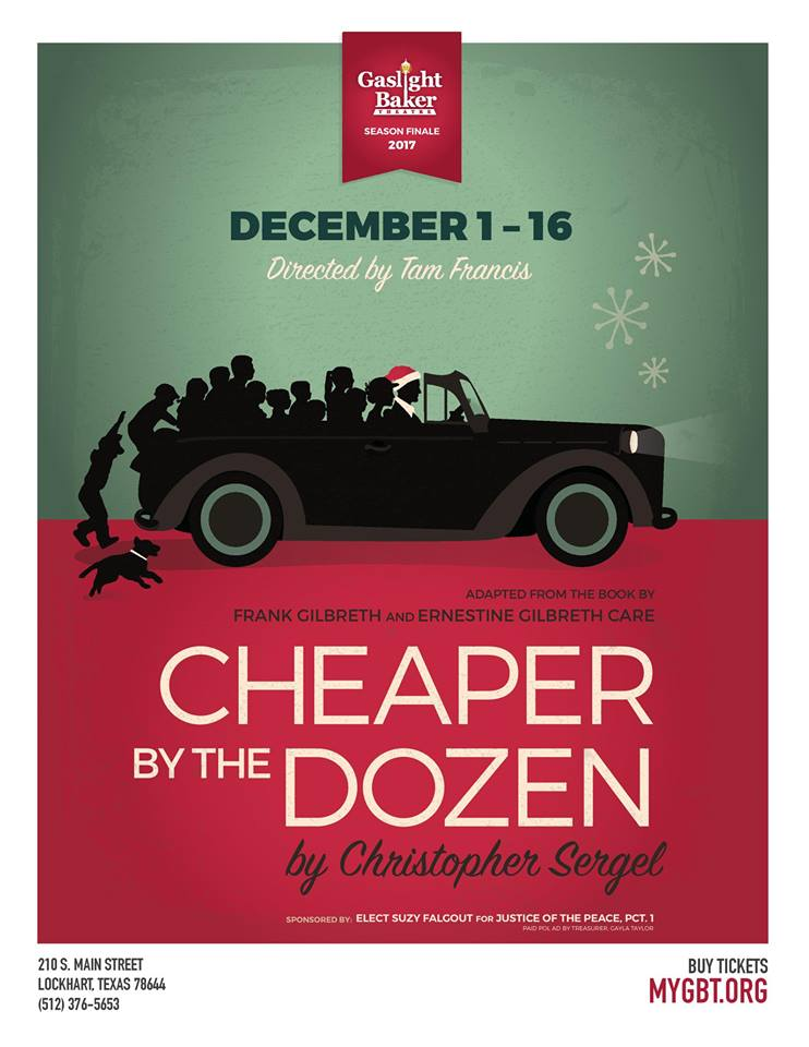 Cheaper by the Dozen by Gaslight Baker Theatre