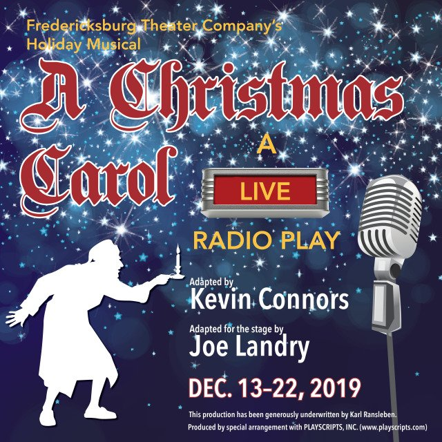 Auditions for A Christmas Carol - a live radio play, by Fredericksburg Theater Company