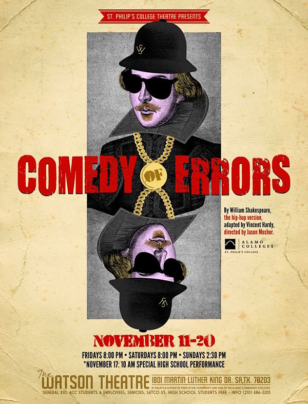 The Comedy of Errors, a Hip-Hop Version by St. Philip's College