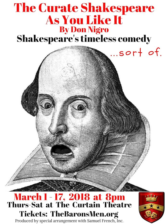 The Curate Shakespeare As You Like It by The Baron's Men