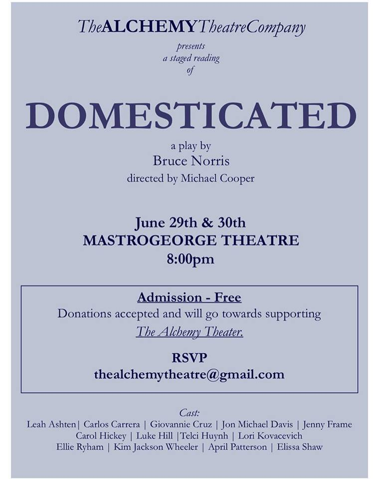 Domesticated by Alchemy Theatre Company