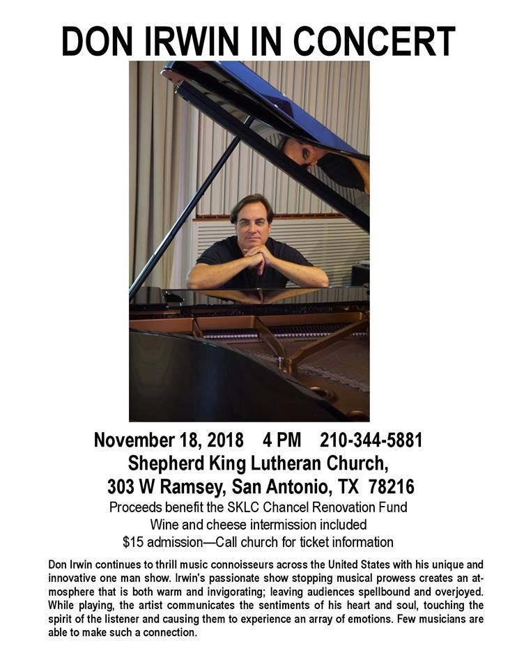 Don Irwin in Concert by Shepherd King Lutheran Church