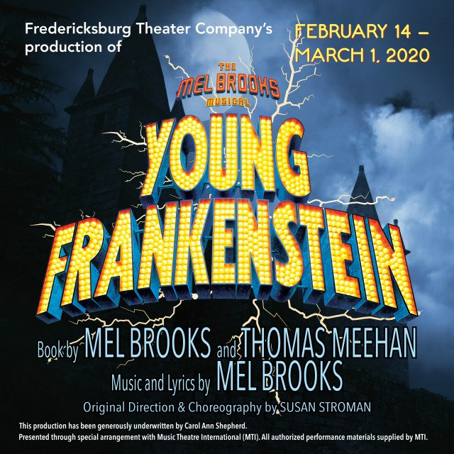 Young Frankenstein by Fredericksburg Theater Company
