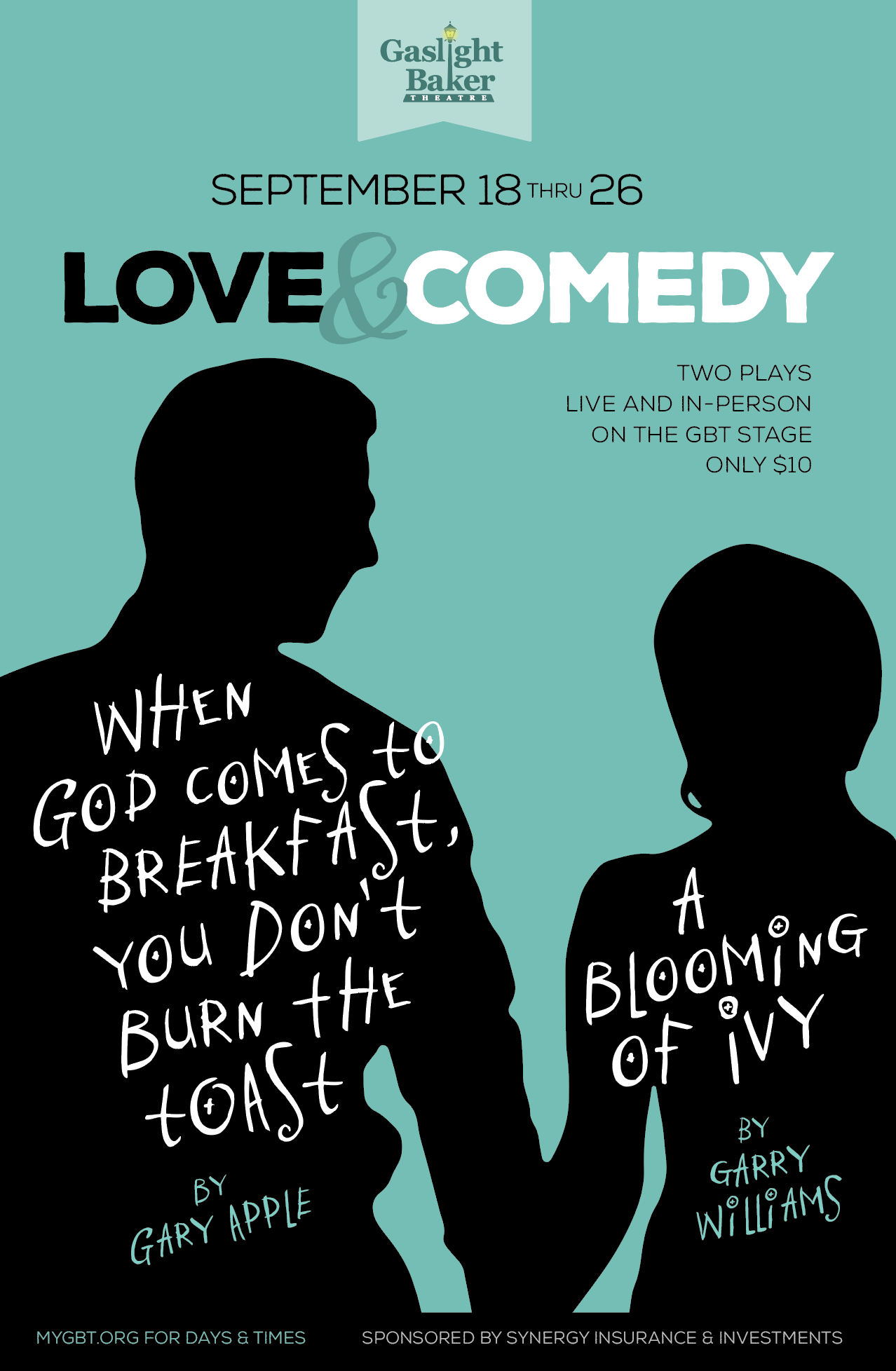 Love & Comedy - Two One-Act Plays by Gaslight Baker Theatre