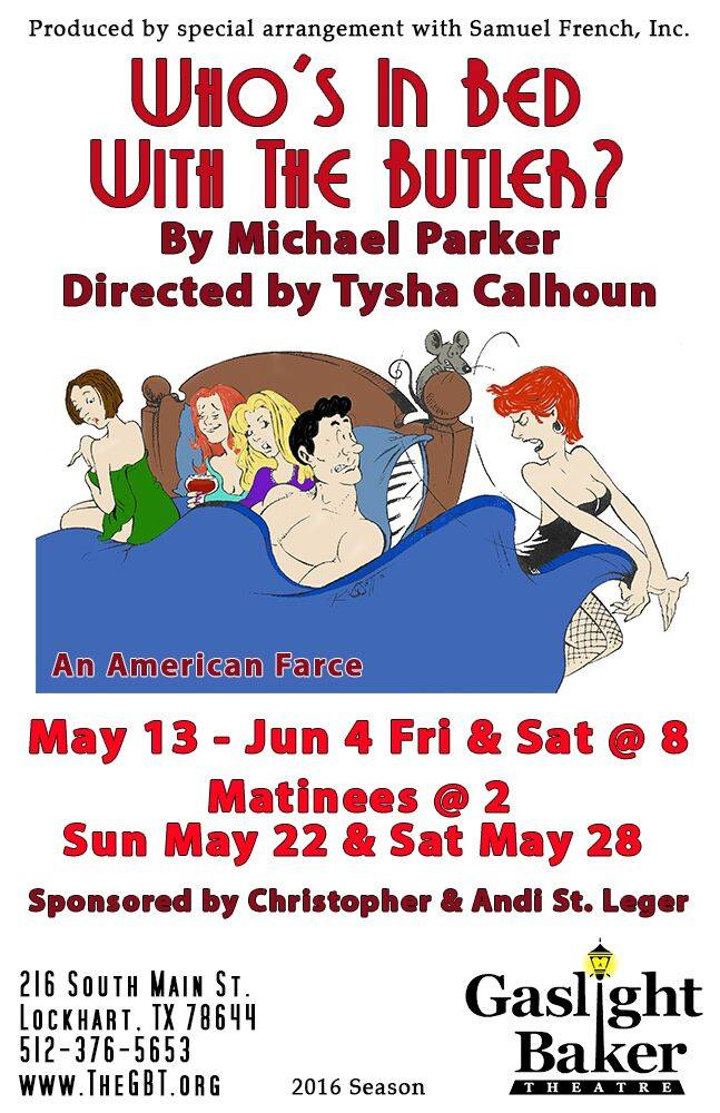 Who's in Bed with the Butler? by Gaslight Baker Theatre