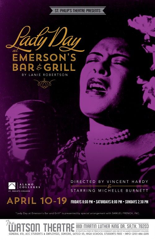 Lady Day at Emerson's Bar and Grill by St. Philip's College