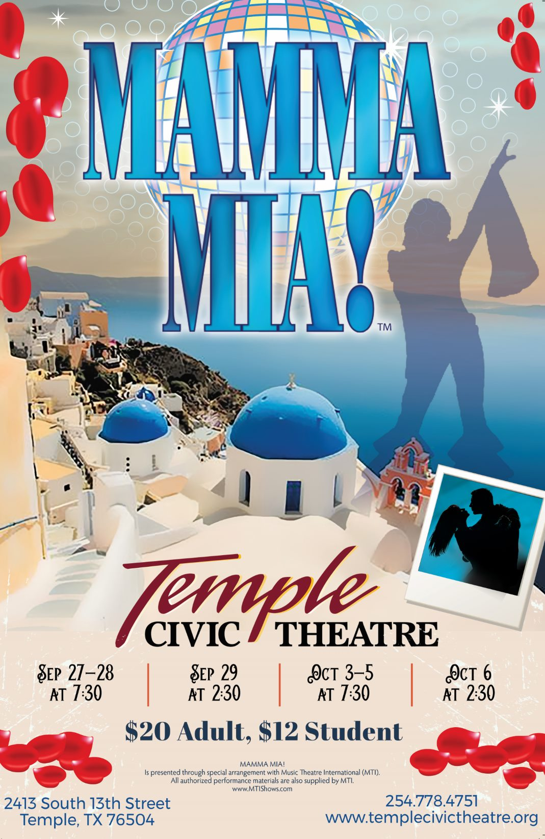 Mamma Mia! by Temple Civic Theatre