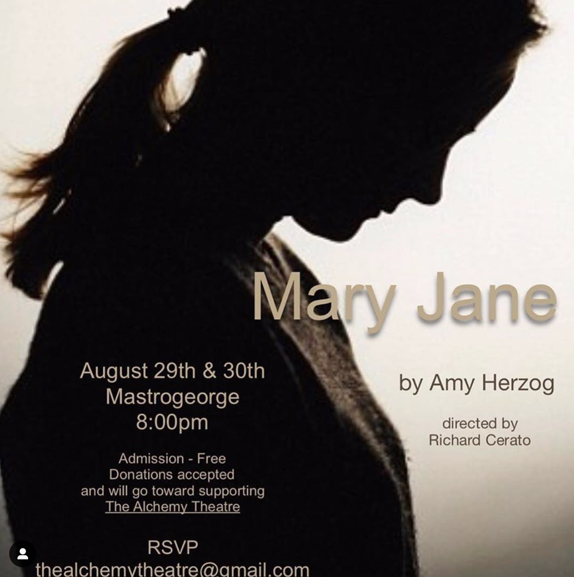 Mary Jane by Alchemy Theatre Company