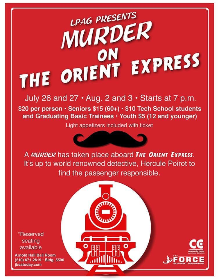 Murder on the Orient Express by Lackland Performing Arts Group