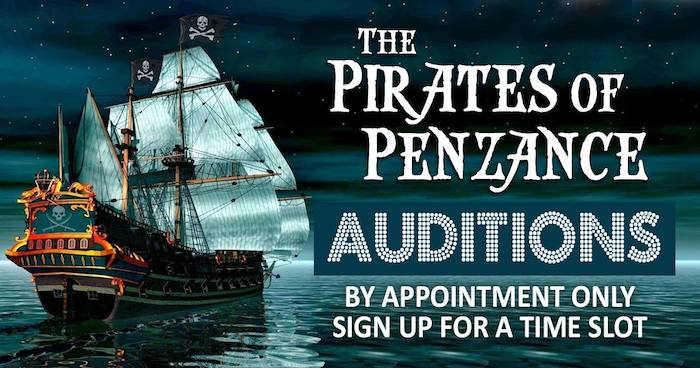 Auditions for The Pirates of Penzance, by Gilbert & Sullivan Austin