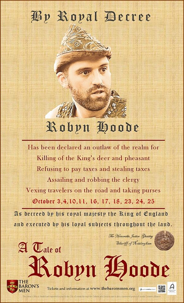 A Tale of Robyn Hoode by The Baron's Men