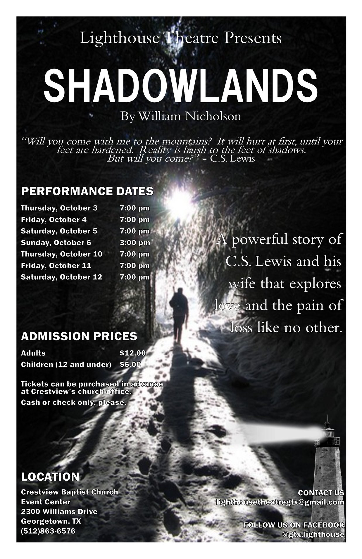 Shadowlands by Lighthouse Theatre
