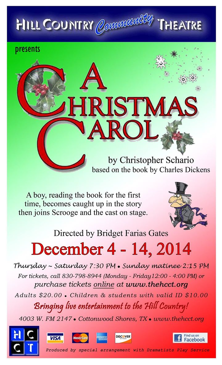 A Christmas Carol by Hill Country  Community Theatre (HCCT)