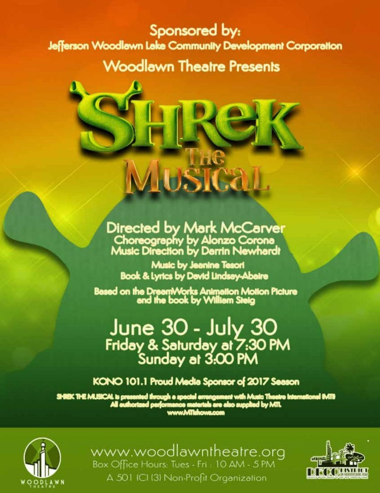 Shrek The Musical by Woodlawn Theatre