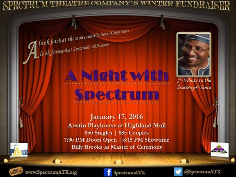 Spectrum Theatre's A NIGHT WITH BOYD VANCE by Spectrum Theatre Company