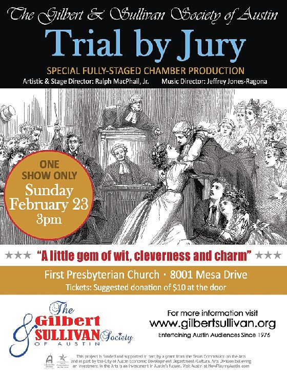 Trial by Jury by Gilbert & Sullivan Austin