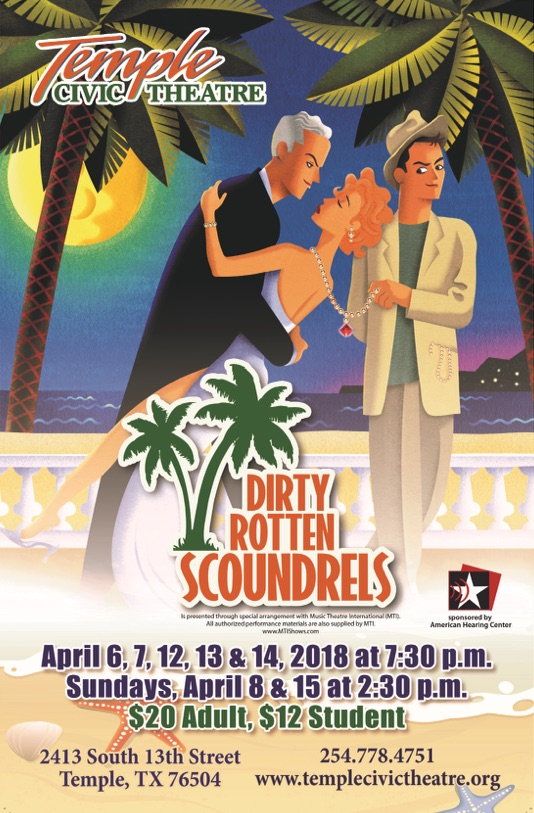 Dirty Rotten Scoundrels by Temple Civic Theatre