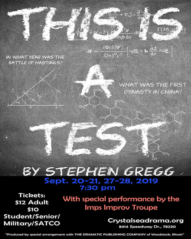 This Is A Test by Crystal Sea Drama Company