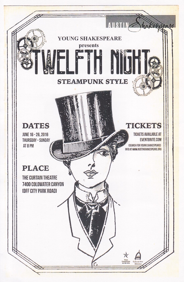Twelfth Night: Steampunk Style by Young Shakespeare Troupe