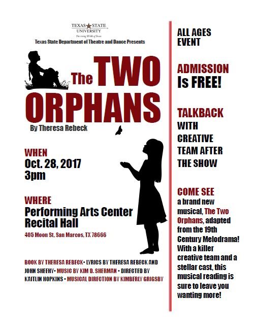 The Two Orphans by Texas State University