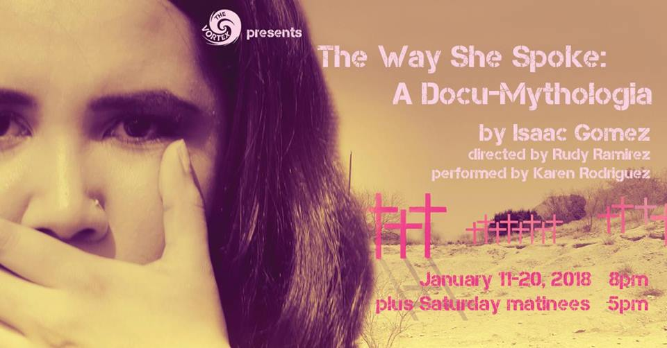 The Way She Spoke: A Doc-Mythologia by Vortex Repertory Theatre