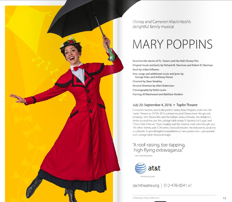 Mary Poppins by Zach Theatre