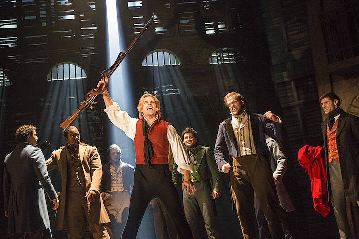 Matt Shingledecker as Enjolras (photo via Broadway in Austin)