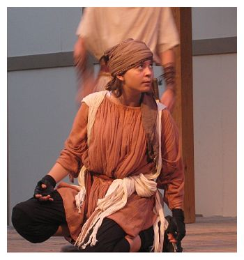 Georgia McLeland as Thersites (Austin Shakespeare photo)